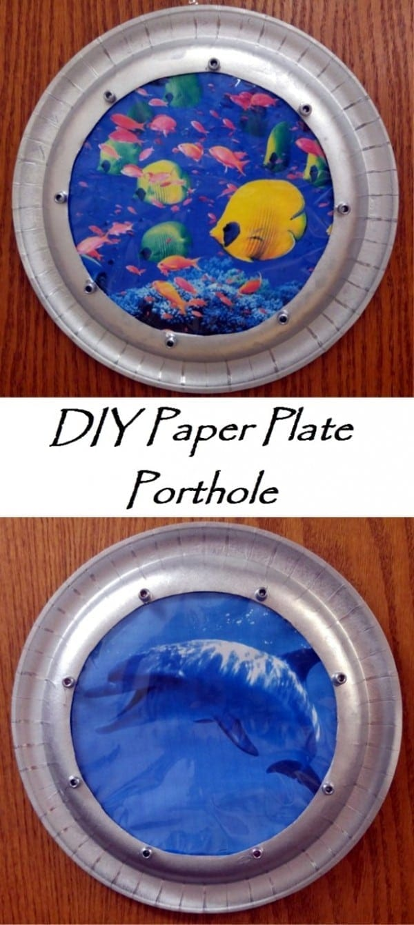 Do it Yourself Paper Plate Portholes