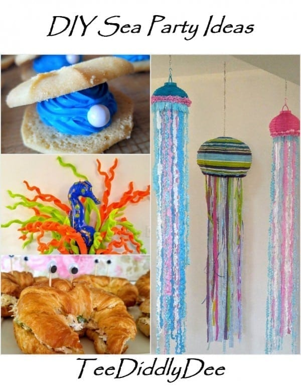 DIY Oyster Cookies, Pool Noodle Coral Reef, Crabby Sandwiches, Paper Jellyfish
