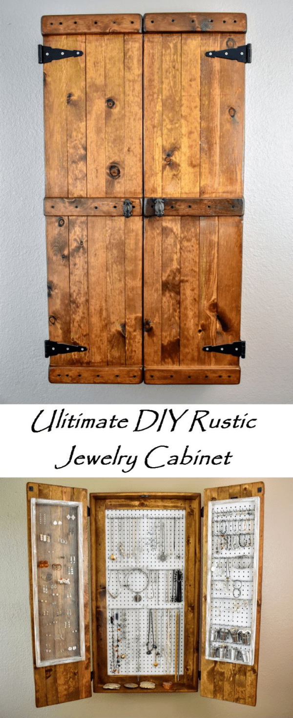 The Ultimate Diy Rustic Jewelry Cabinet Attractive With Lots Of Storage