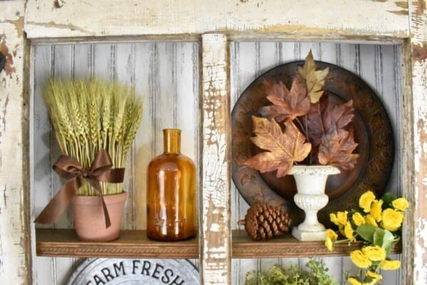 Fall Vintage Door Hutch